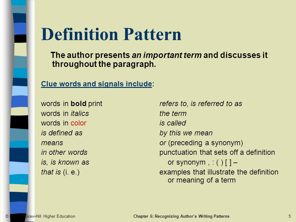 Chapter 40 Recognizing Author's Writing Patterns ppt download Mesmerizing Pattern Synonym
