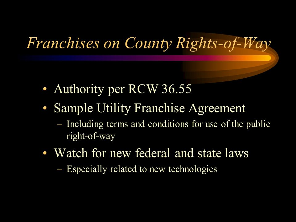 Public Utilities In County Rights Of Way Chris Mudgett Pe County