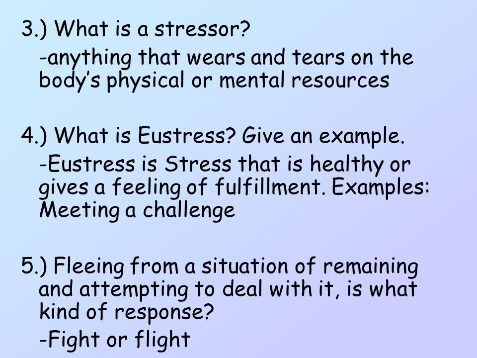 Stress And Stress Managment Hillcrest Middle School 8 Th Grade