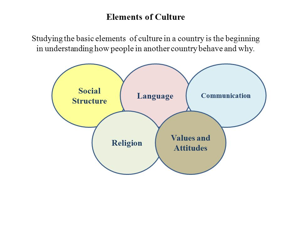 5 Elements Of Culture Studying The Basic