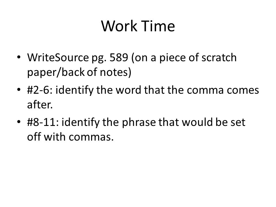 Work Time WriteSource pg.