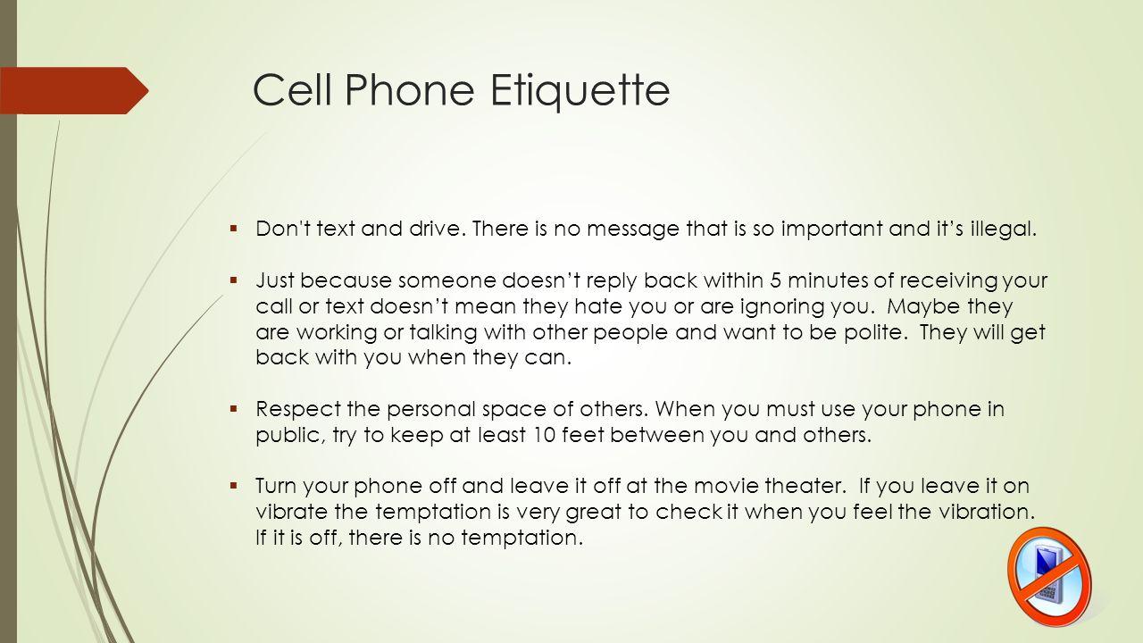 Electronic Communication Etiquette Computer Technology - Standard 4