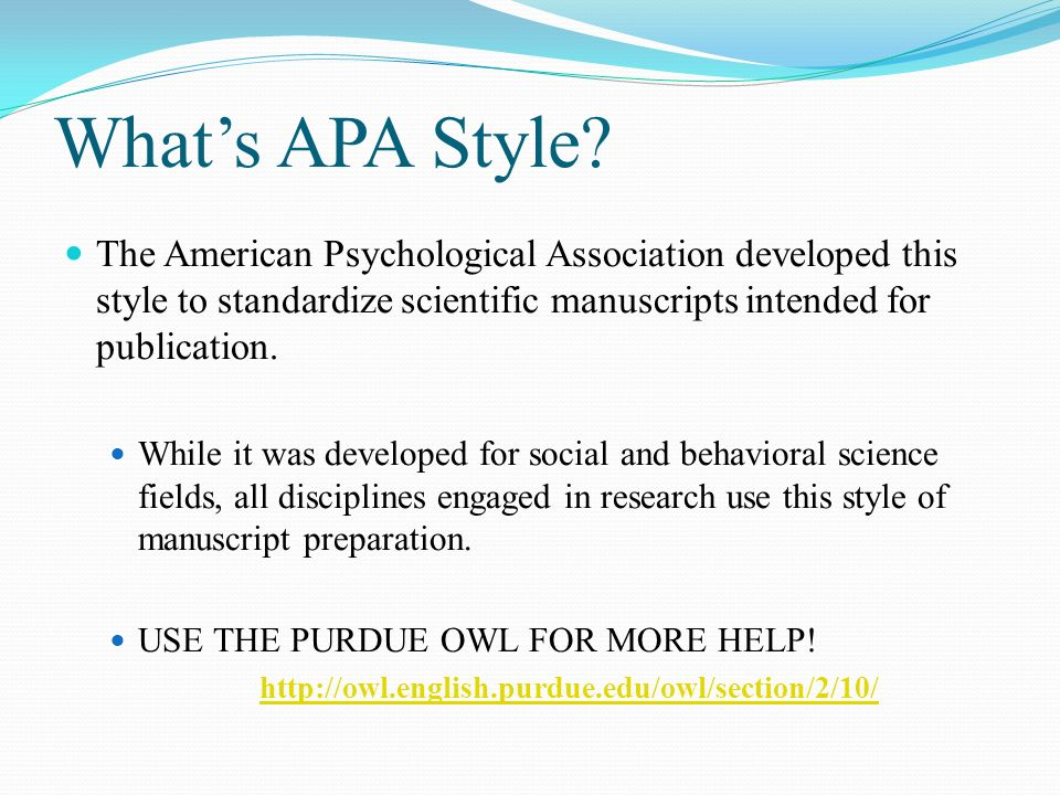 set up basics references in text citations what s apa style the
