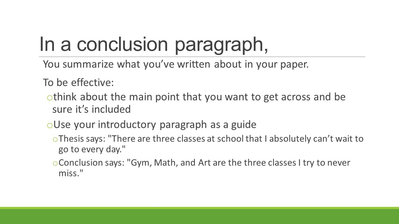 conclusion paragraph example