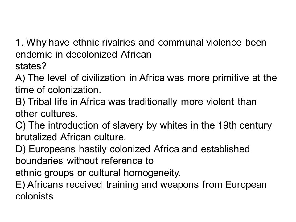ethnic conflicts in the world