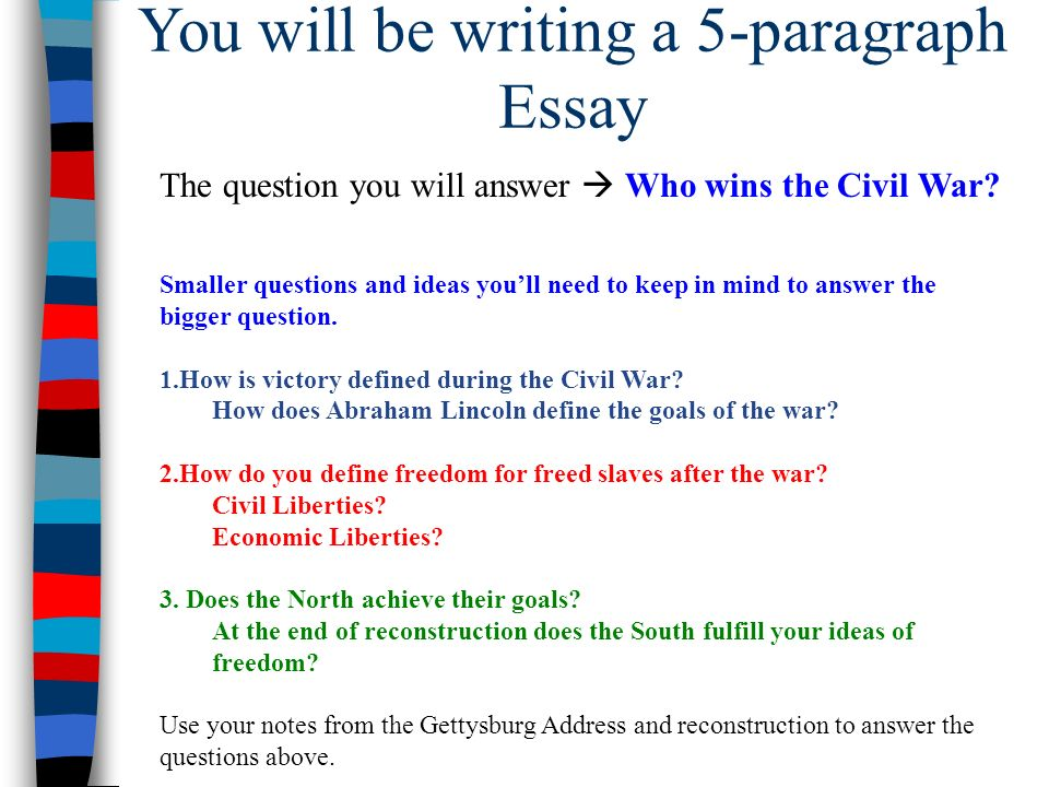 Essay On Democracy In America You Will Be Writing A Paragraph Essay The Question You Will Answer  Who Narrative Essay Introduction Example also Scary Story Essay Essential Question Essential Question  What Were The Success  Introduction In Essay
