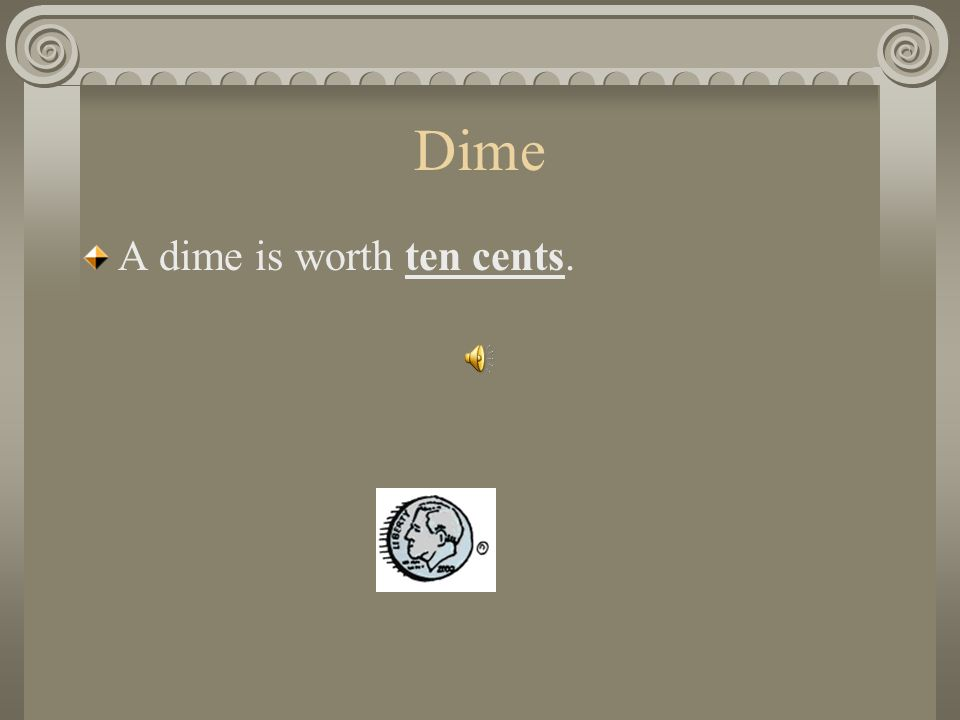 Dime How much is a dime worth