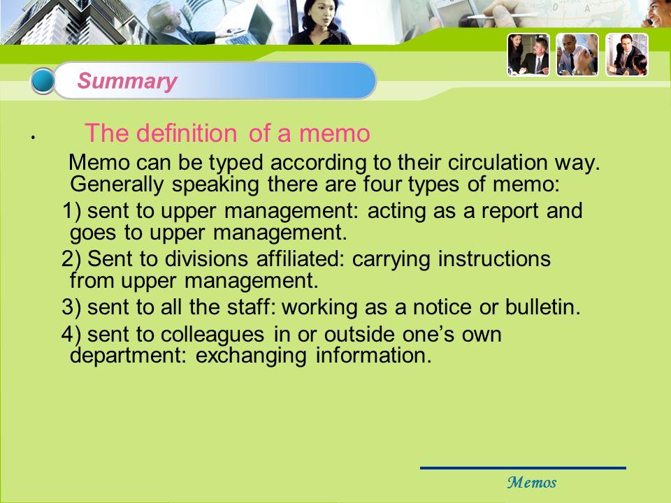 meaning of the word memorandum