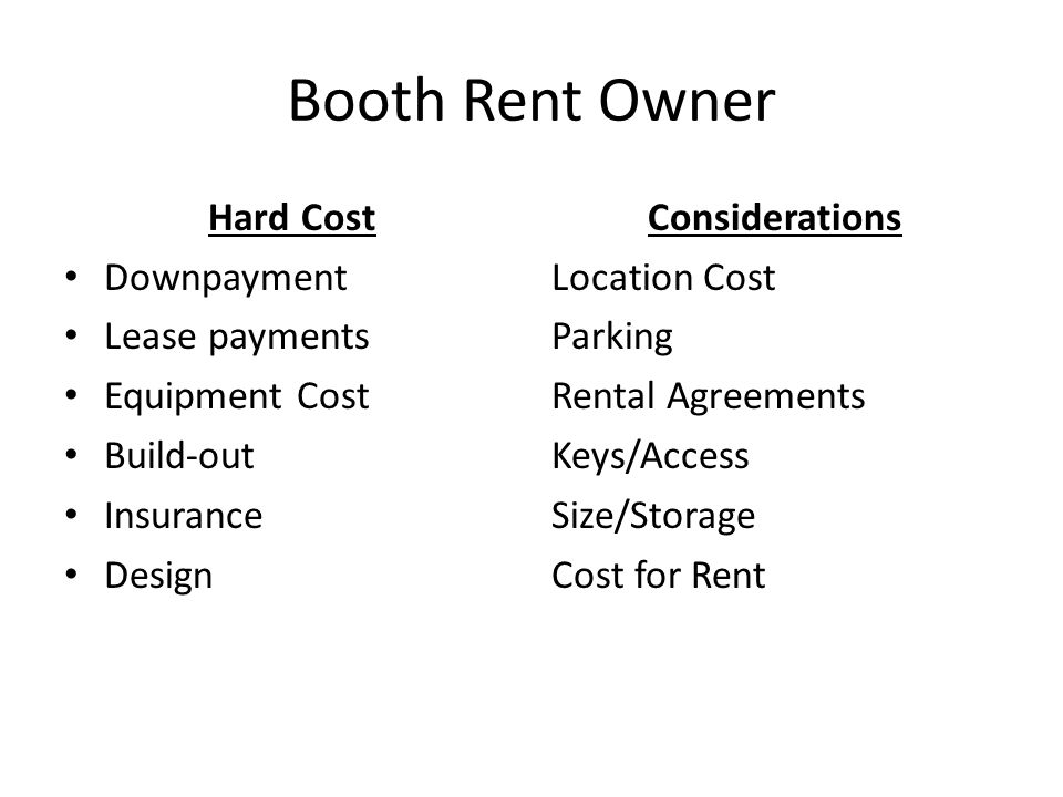 Salon Ownership Booth Rent V Commission Ownership Types Booth