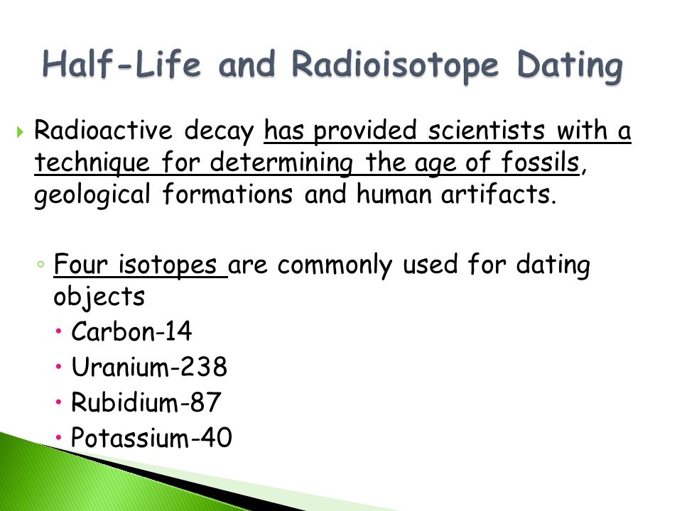 techniques of radioactive decay datingdating motto