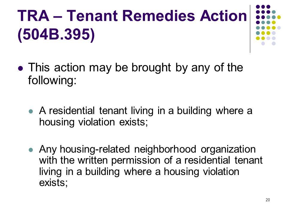 Representing Clients in Pro Bono Housing Repair Cases Drew Schaffer