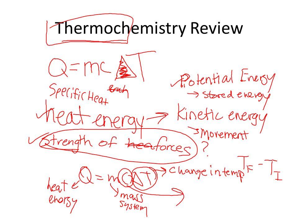 Chem Ii Objectives Acidbase Chemistry Exam Thermochemistry Review