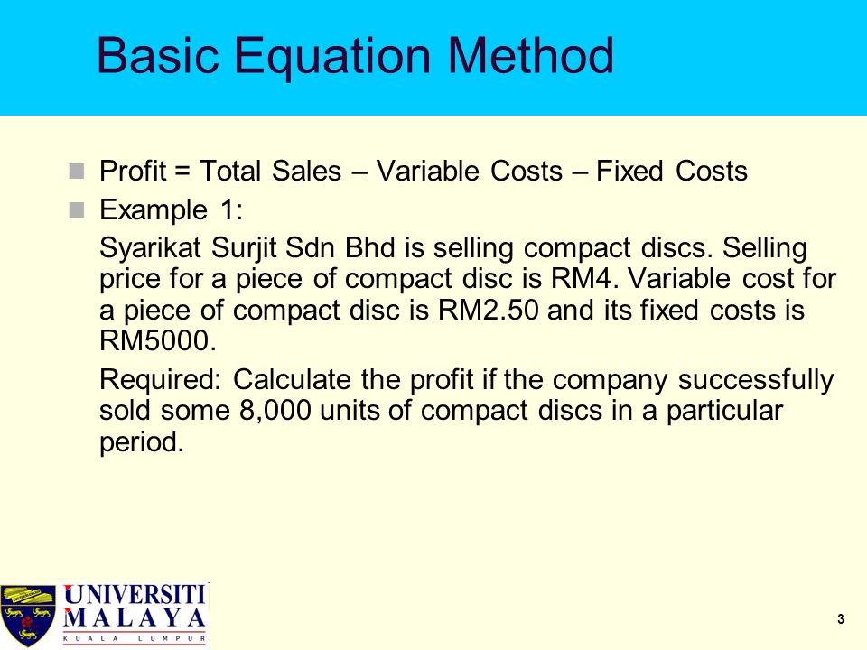 1 Cost-Volume-Profit (CVP) Analysis  2 Cost-Volume-Profit