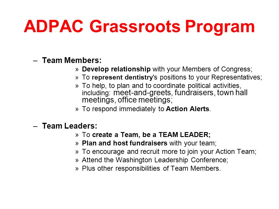 Adpac supports the alliance the dental community ppt download 7 team m4hsunfo