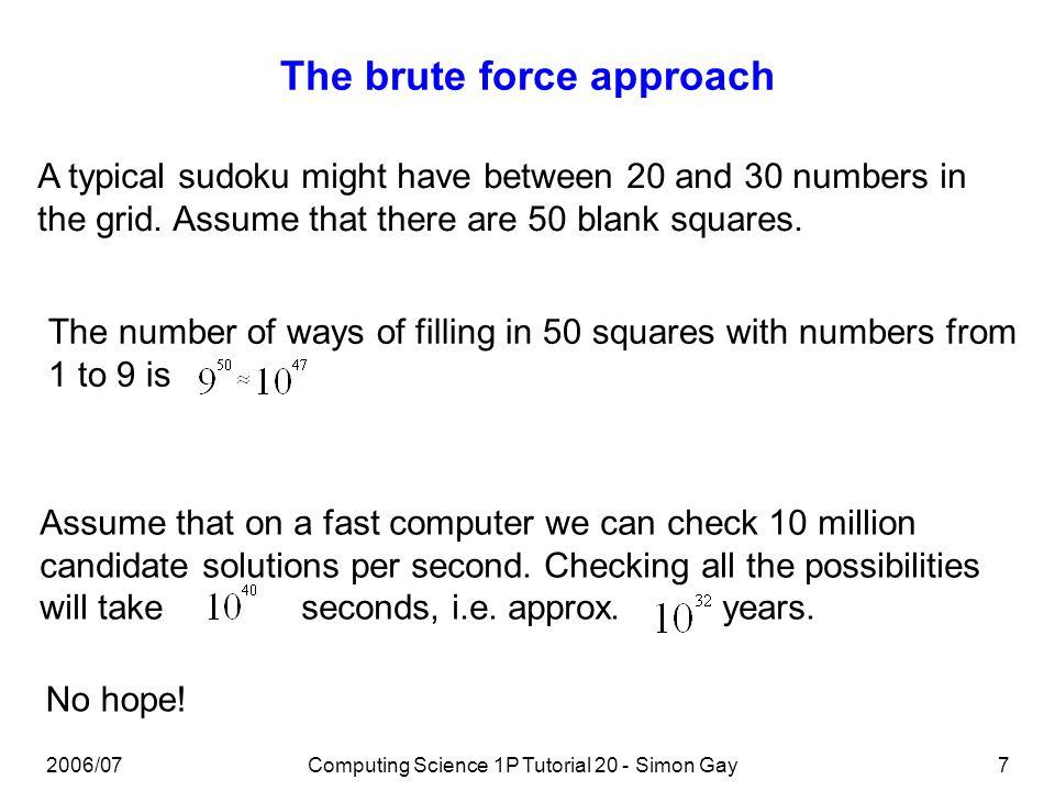 Computing Science 1P Large Group Tutorial 20 Simon Gay