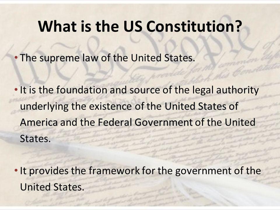 United States Constitution 101 The Constitution Lesson 3 Mr