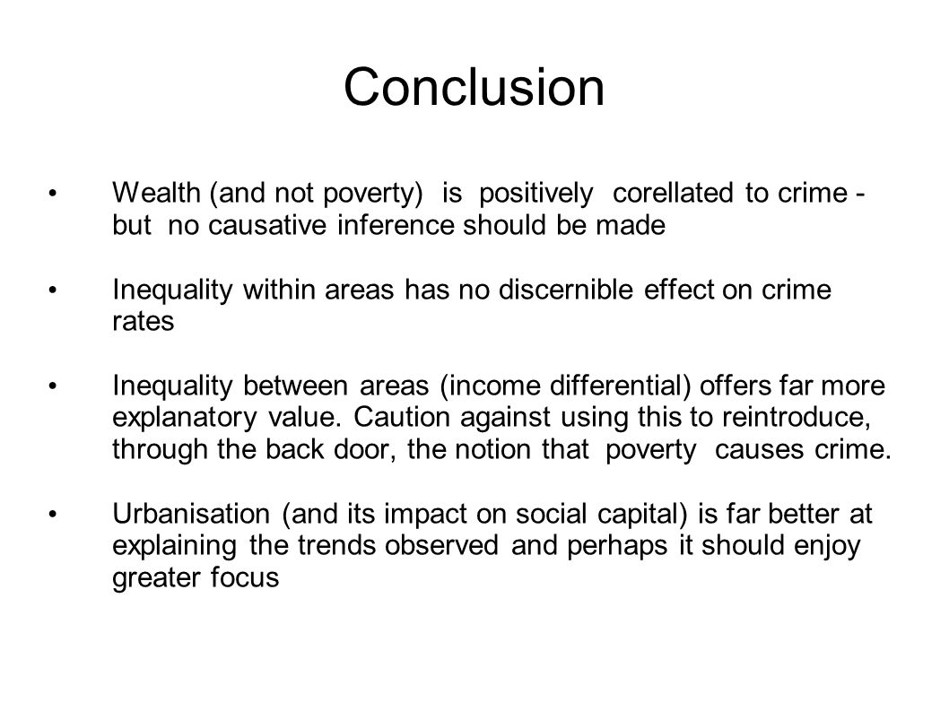 how poverty causes crime