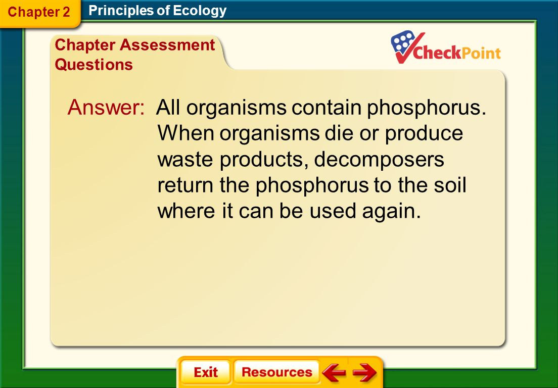 Use the image below to explain how decomposers supply phosphorus to soil, groundwater, oceans, lakes, ponds, and rivers.