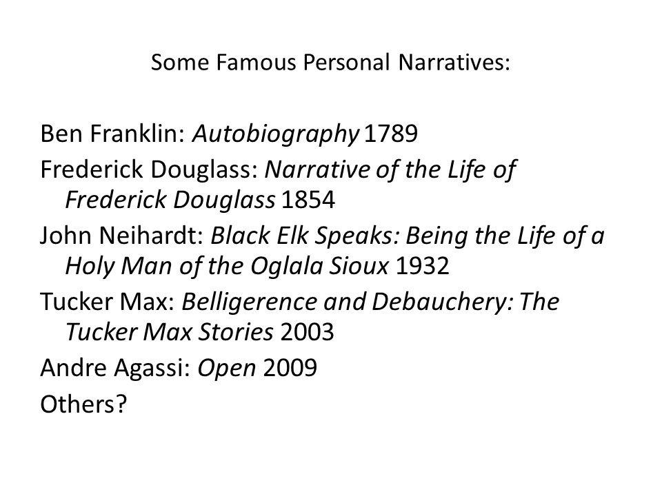 famous personal narratives