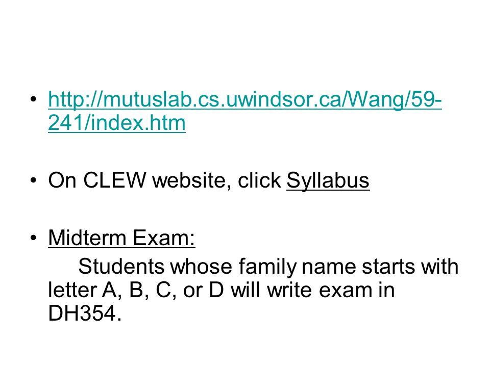 clew uwindsor ca