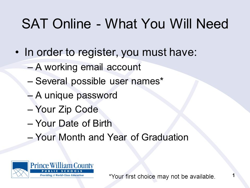 collegeboard sat online course student registration ppt download