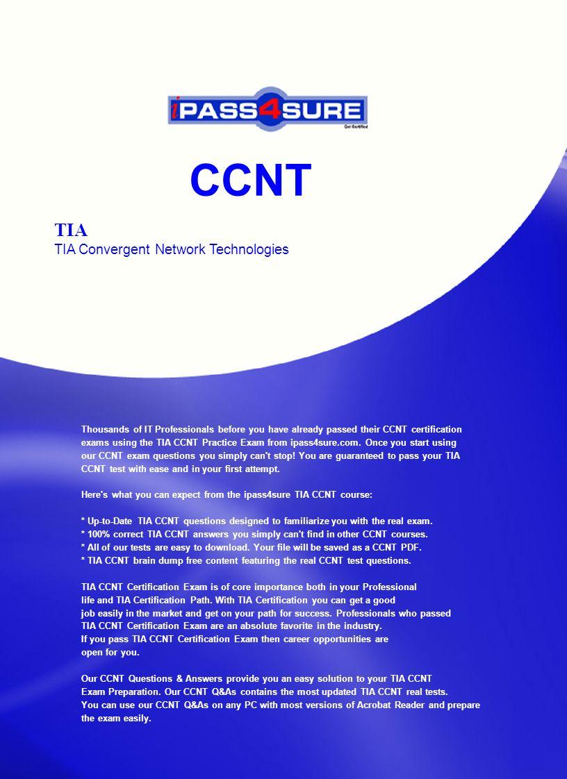 Ccnt Tia Tia Convergent Network Technologies Thousands Of It
