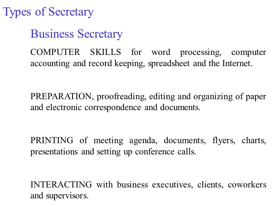What Is Secretary Sufficient Knowledge Of Their Chiefs Activity
