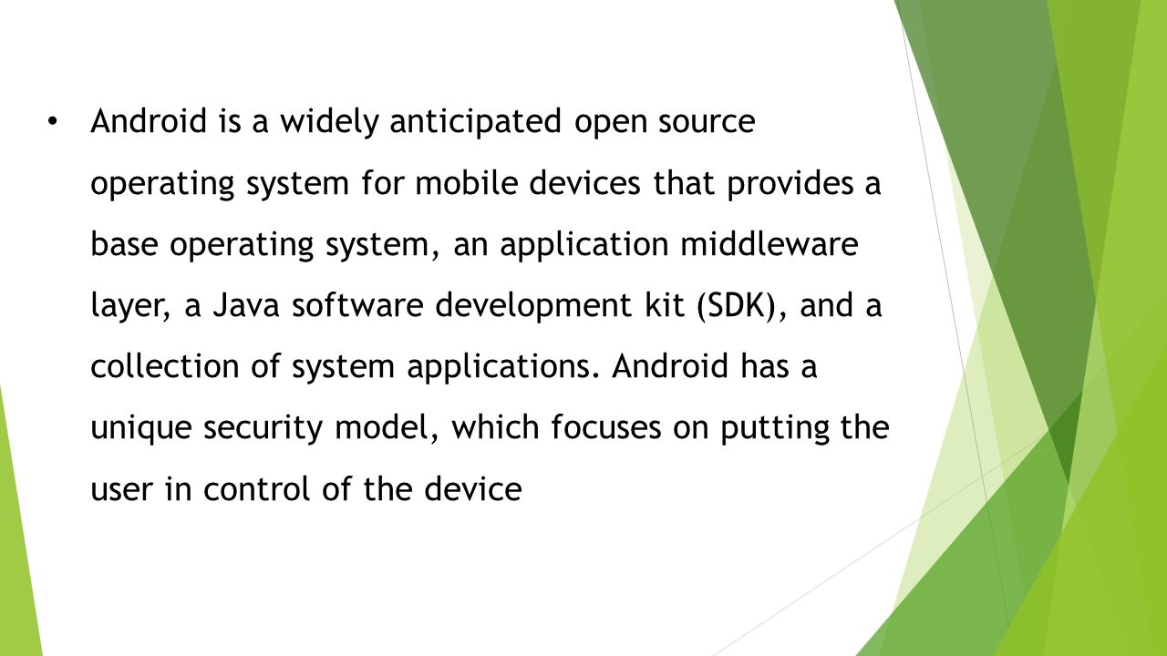 Android Security Model that Provide a Base Operating System