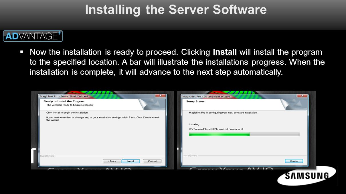  Now the installation is ready to proceed.