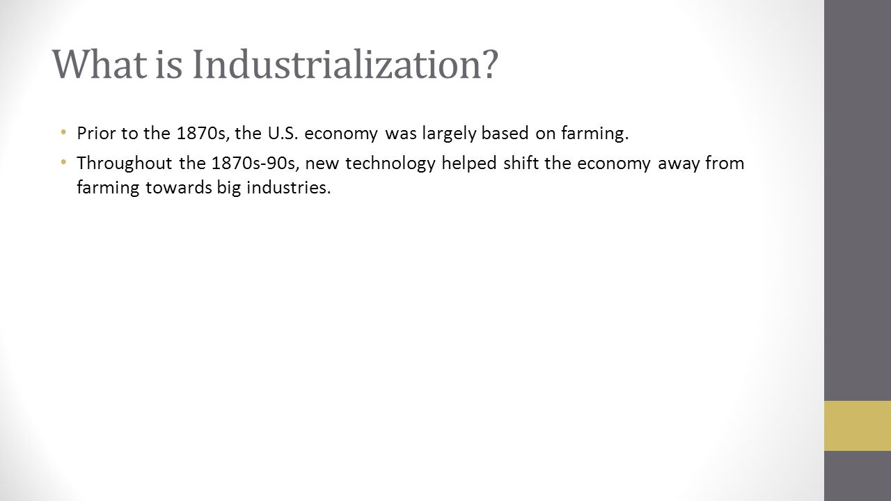 What is industrialization 97