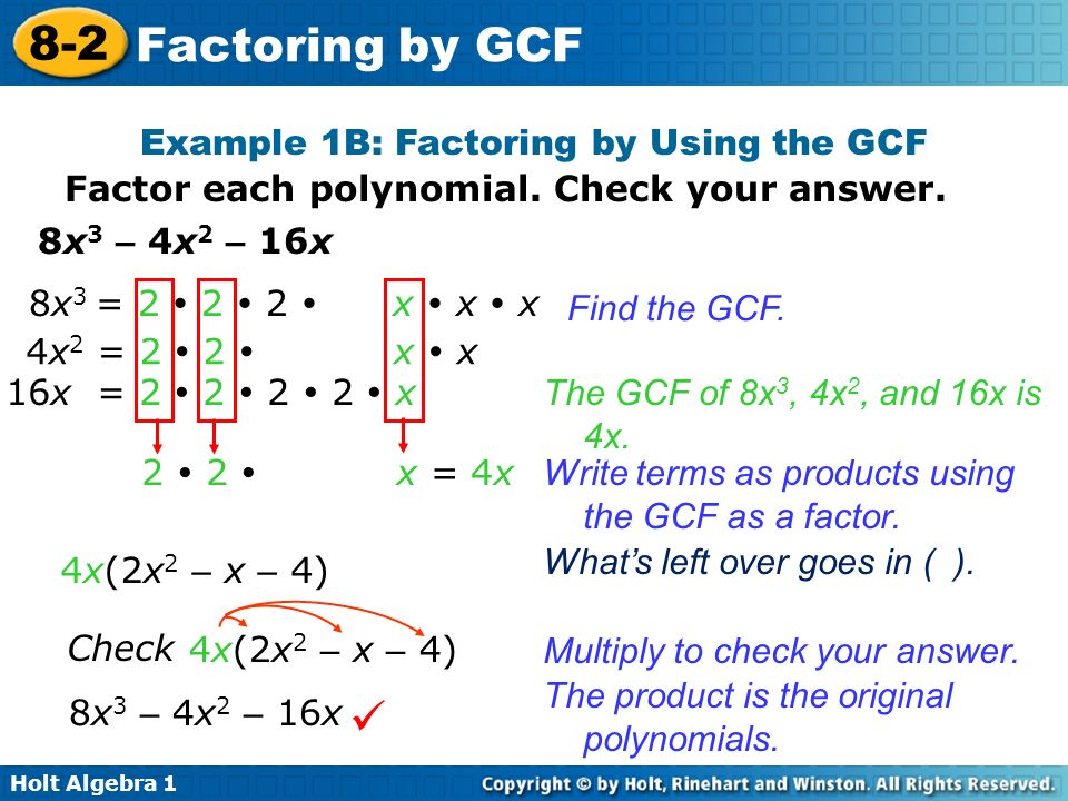 problem solving 8-2 factoring by gcf