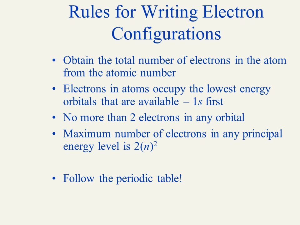 Chapter 2 the structure of the atom and the periodic table ppt 46 rules urtaz