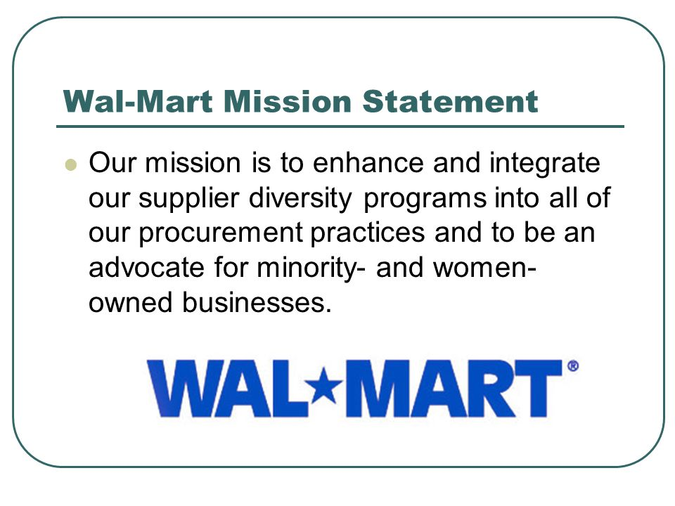 target mission statement vs walmart - wal-mart current situation analysis mission and strategic objectives wal - mart corporation's mission statement can be identified as follows: sam walton built wal-mart on the revolutionary philosophies of excellence in the workplace, customer service and always having the lowest prices.