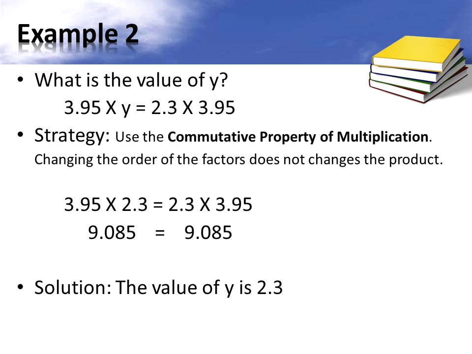 What is the value of y.