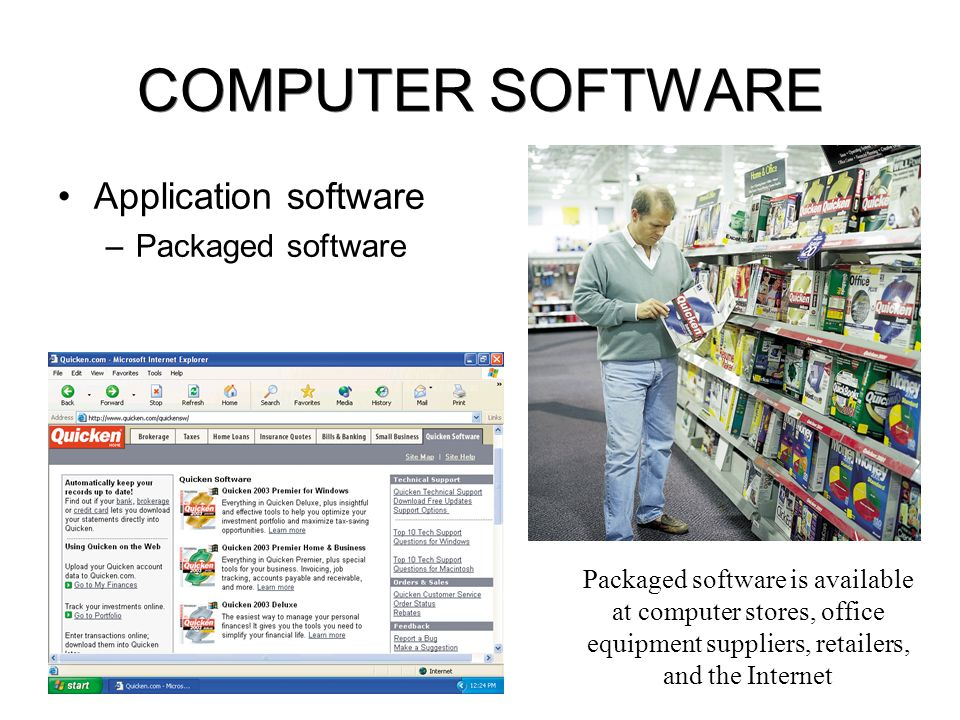 COMPUTER SOFTWARE Application software –Software suites Word