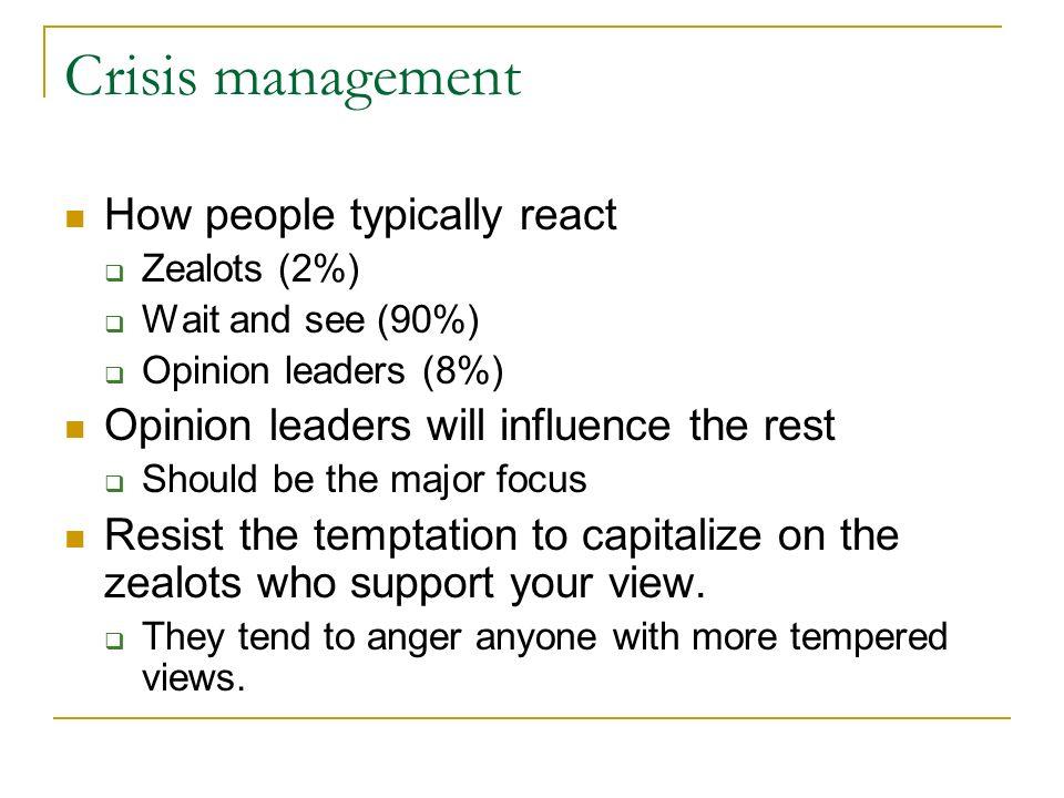 "Week 13 – Crisis management What is ""crisis management"