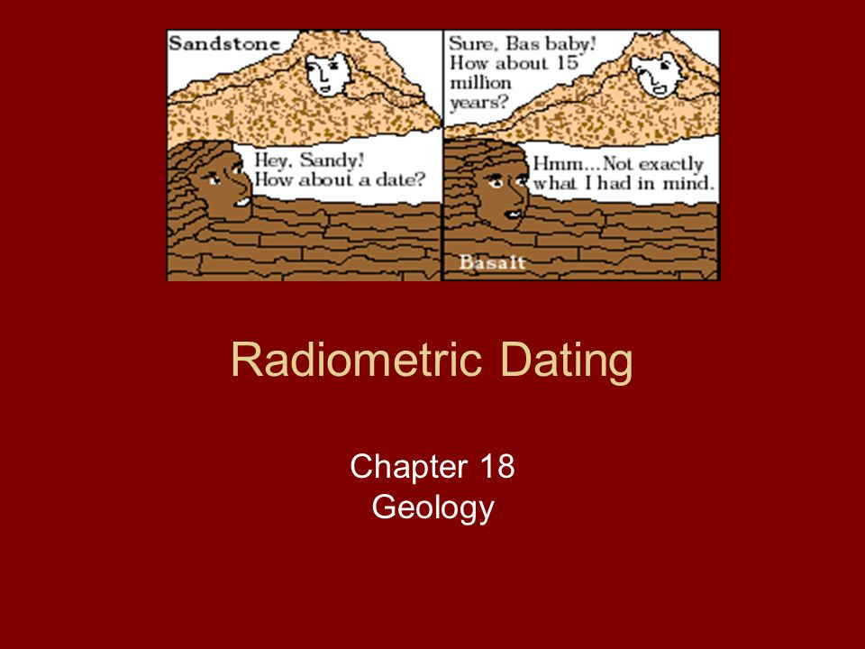 Radiometric dating of an igneous rock provides