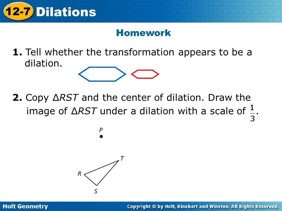 problem solving dilations lesson 12-7
