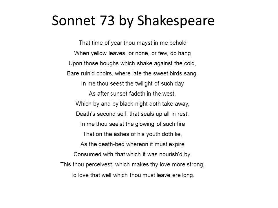 sonnet 73 theme