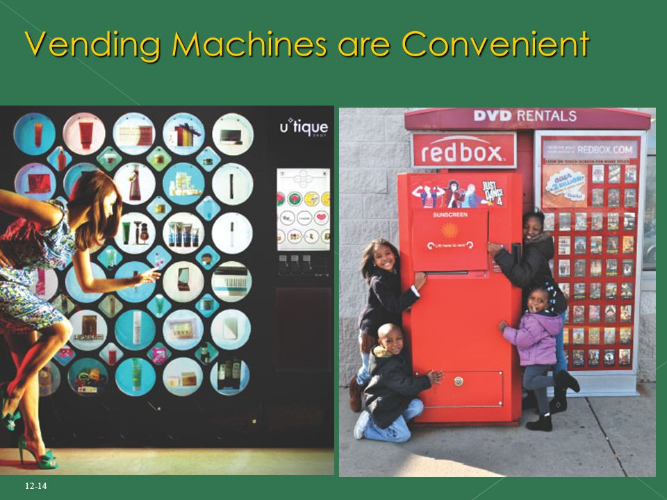 12-14 Vending Machines are Convenient