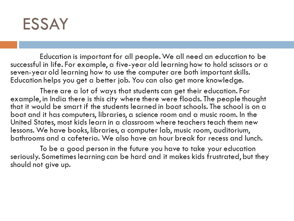 why education is important essay samples Finding reasons why research is important seems like a no-brainer, but many people avoid getting involved in research the lazy, if not mentally drained, student could say, not again and a disinterested academic could just be doing it to secure job tenure and/or a promotion.