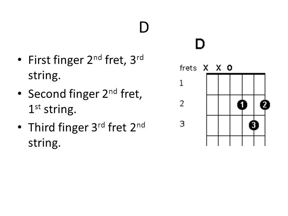 Guitar Chords G First Finger 2nd Fret 5 Th String Second Finger 3