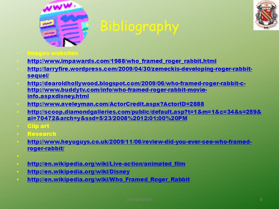 Roger Rabbit By Joseph Nicholson 1Joe nicholson. Table Of Contents ...