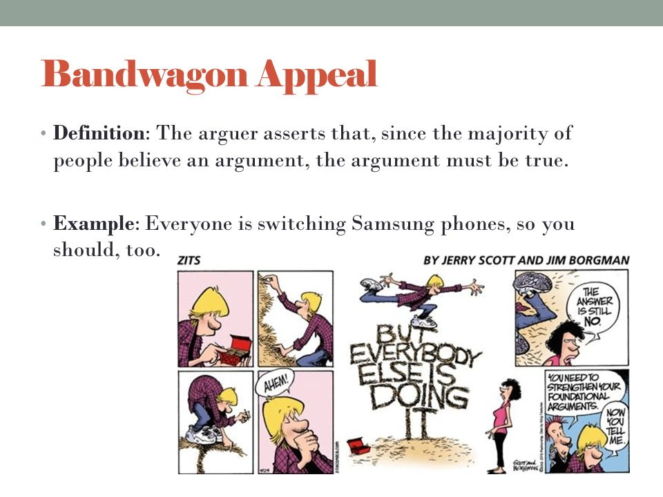 bandwagon logical fallacy