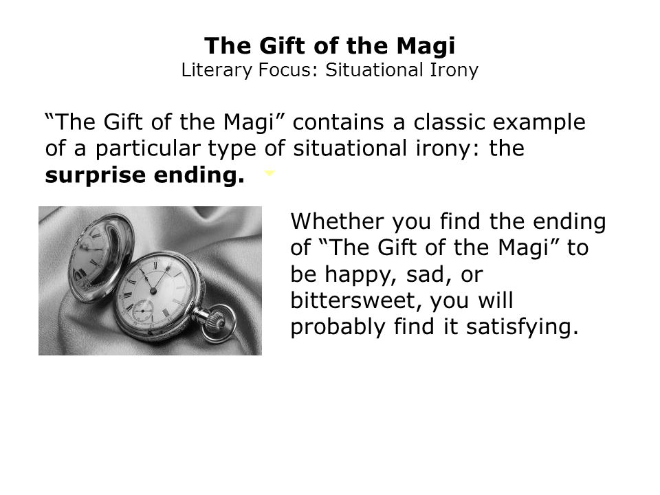 irony in the gift of the magi
