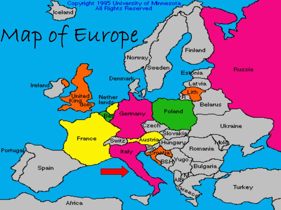Italy Map Of Europe Geography Capital City Rome Population