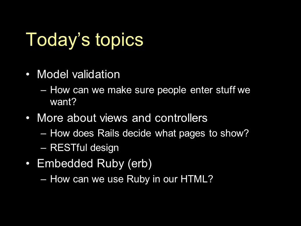 Rails and routing INFO 2310: Topics in Web Design and