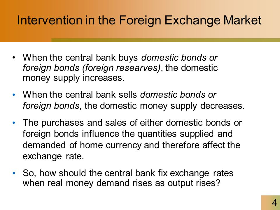 4 Intervention In The Foreign Exchange Market When Central Bank S Domestic Bonds Or