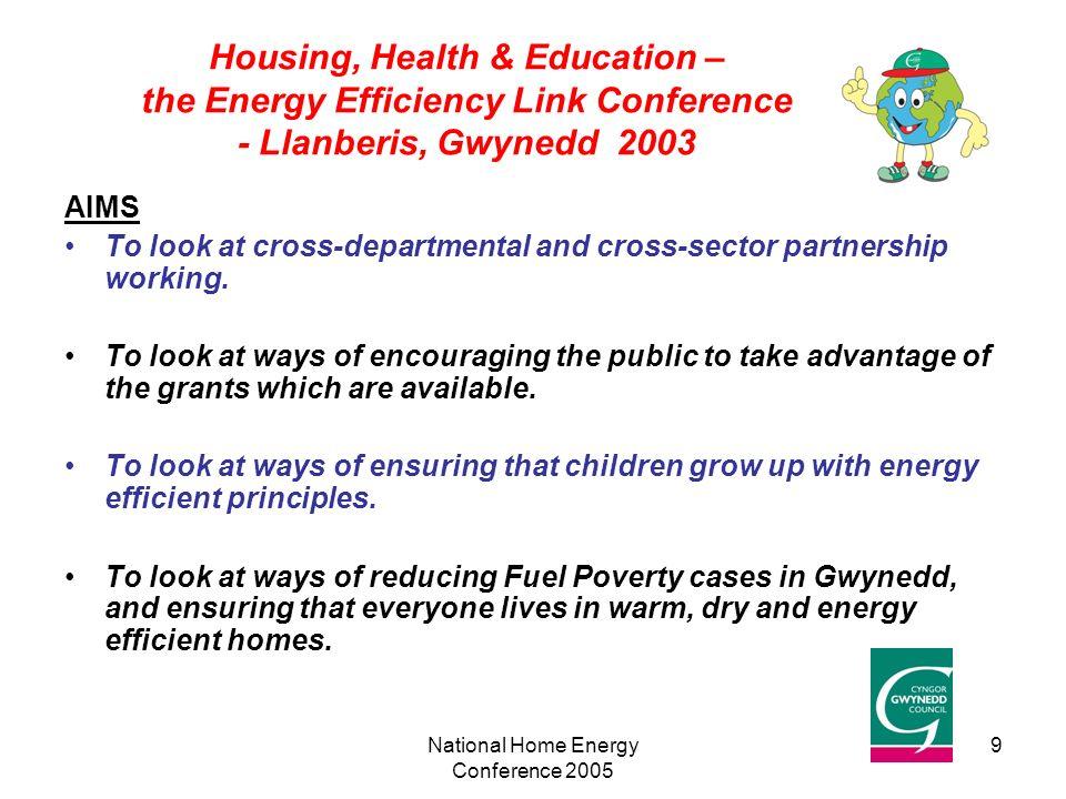 National Home Energy Conference Dyffryn Nantlle Gwynedd