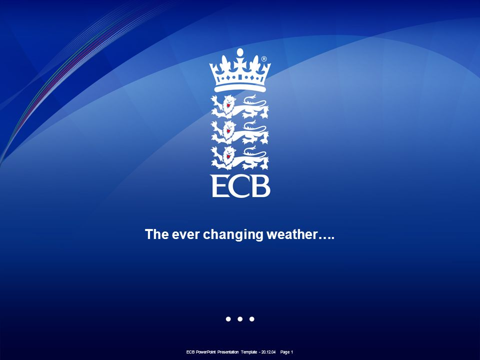 ecb powerpoint presentation template page 1 the ever changing